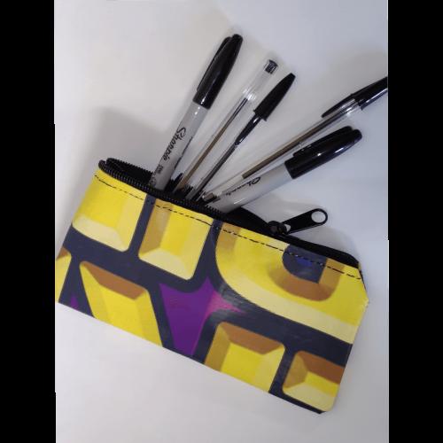 Gandeys pencil case purple and gold