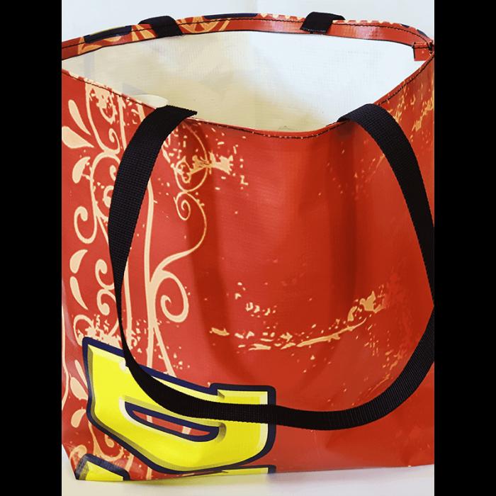 Gandeys red shopping bag